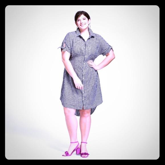 f97ceb3664d Ava   Viv Dresses   Skirts - Ava Viv Gingham short sleeve shirt dress